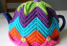 Renkli Örgü Çaydanlık Örtüsü modelleri