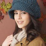 Lacivert Renkli Örgü Kadın Şapka