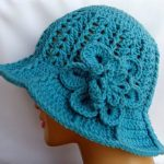 Mavi Örgü Şapka Yazlık