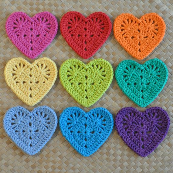 Renkli ve Kalpli bardak altlıkları