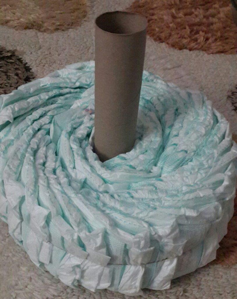 bebek bezi pastası yapılışı 3
