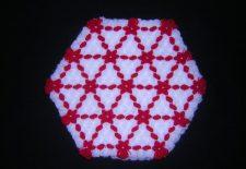 kırmızı beyaz kasnak lif örneği