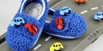 Arabalı bebek patiği resimleri