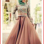 En Güzel Tesettür Abiye Modeli 2016