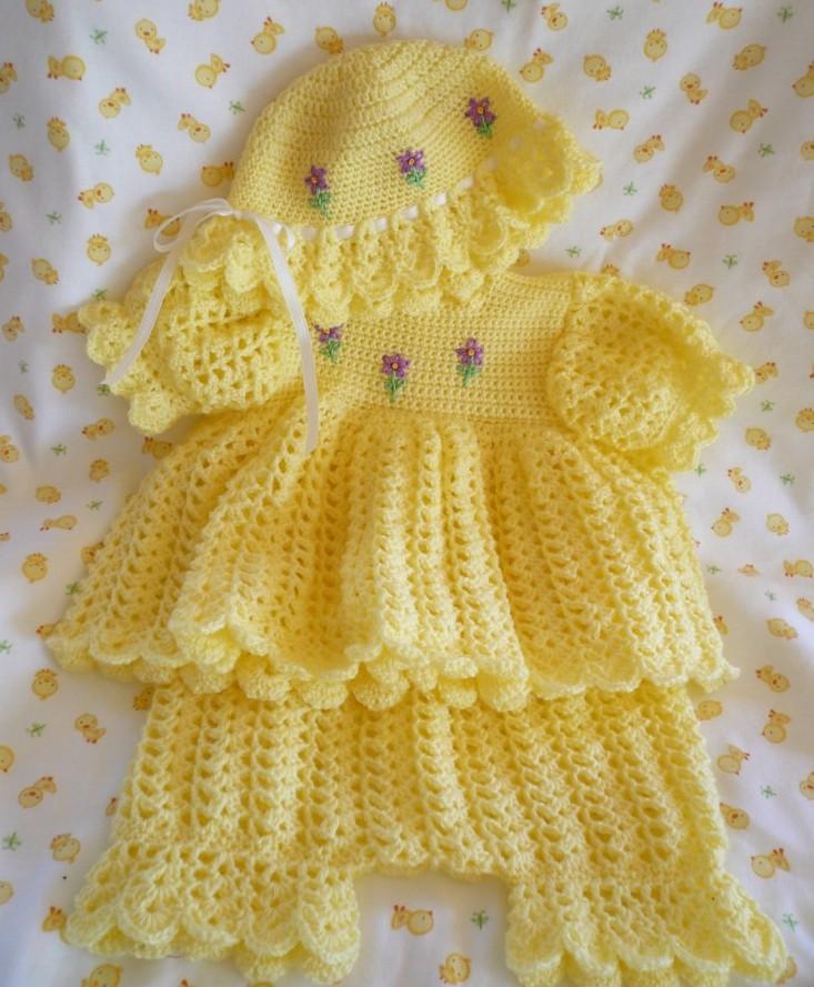 84efd5b5734cf Örgü Bebek Elbise Takımları   Örgü Delisiyim