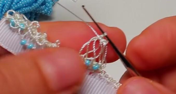 Boncuklu Tığ Oyası Modeli Yapımı