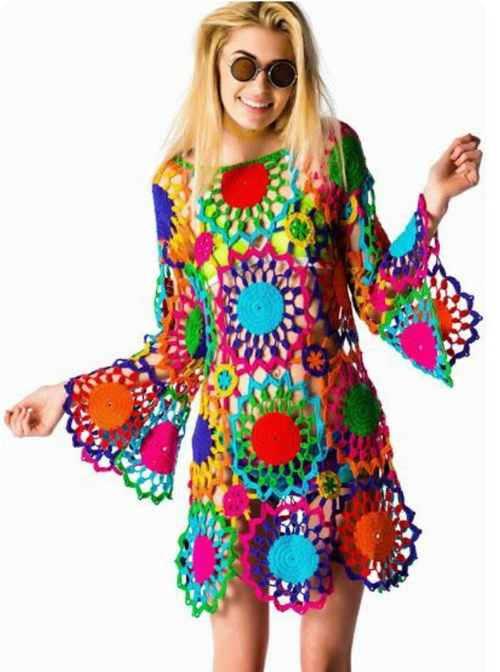 Motifli rg bayan elbise modelleri rg delisiyim - Ropa hippie moderna ...