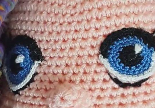 Amigurumi Ahu Bebek Göz
